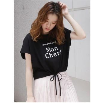 dazzlin MonCheriドロストショートTシャツ(ブラック)
