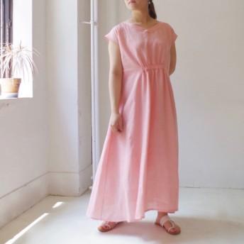 2WAY フレンチリネンロングワンピース light pink