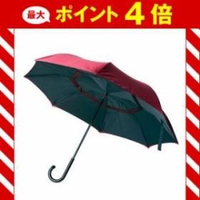 晴雨兼用 逆さに開く2重傘 circus ブラック×レッド 【代引不可】 [01]