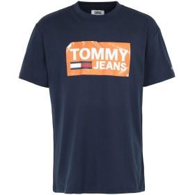 《9/20まで! 限定セール開催中》TOMMY JEANS メンズ T シャツ ダークブルー S コットン BCI 100% TJM SCRATCHED BOX TE