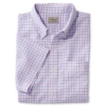 ジャパン・フィット メンズ・シアサッカー・シャツ、半袖 タターソル/Japan Fit Men's Seersucker Shirt Short-Sleeve Tattersall