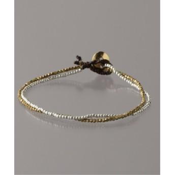 BOICE FROM BAYCREW'S slow hands double beads bracelet シルバー フリー