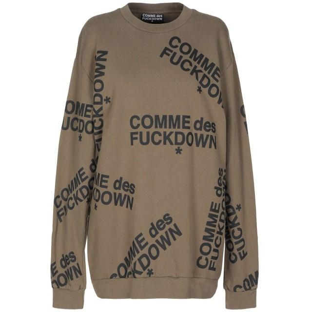 《期間限定セール開催中!》COMME DES FUCKDOWN レディース スウェットシャツ ミリタリーグリーン XS コットン 100%