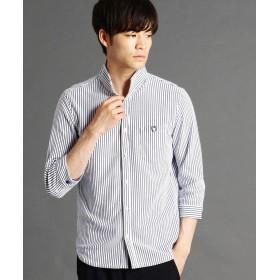 ニコルクラブフォーメン ストライプ柄カットソーシャツ メンズ 09ホワイト 46(M) 【NICOLE CLUB FOR MEN】