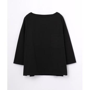 トゥモローランド ファインコットン ビッグTシャツ レディース 19ブラック S(9号) 【TOMORROWLAND】