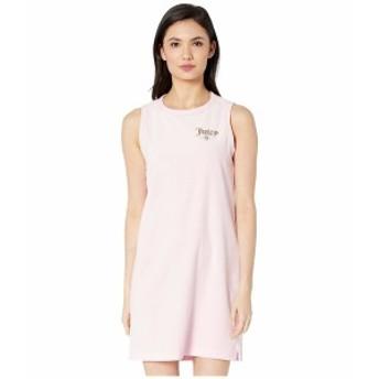 ジューシークチュール レディース ワンピース トップス Juicy Emblem Velour Logo Tunic Dress Pink Lady