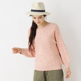 [マルイ]【セール】Lセーター(テープヤーンドルマンニット)/ピンクアドベ(pink adobe)