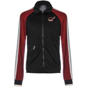 《期間限定 セール開催中》LANVIN メンズ スウェットシャツ ブラック L 47% コットン 45% レーヨン 8% ナイロン ポリエステル ポリウレタン