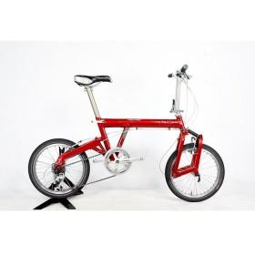 ライズアンドミューラー R&M BD-1 Capreo 2003年モデル アルミ 折りたたみ自転車 9速 レッド
