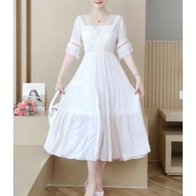 韓国ファッションレディース夏シャツワンピースロングシャツカーディガン大きいサイズトップスブラウスゆったり無地着痩せ