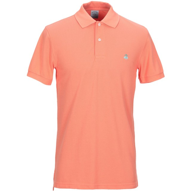 《セール開催中》BROOKS BROTHERS メンズ ポロシャツ オレンジ S スーピマ 100%