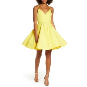 イエナフォアマックドゥガル  レディース ワンピース トップス Mac Duggal Fit & Flare Party Dress Lemon