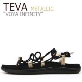 テバ ボヤ サンダル TEVA VOYA INFINITY METALLIC ボヤ インフィニティ メタリック BLACK ブラック GOLD ゴールド 1097852-BKGD シューズ