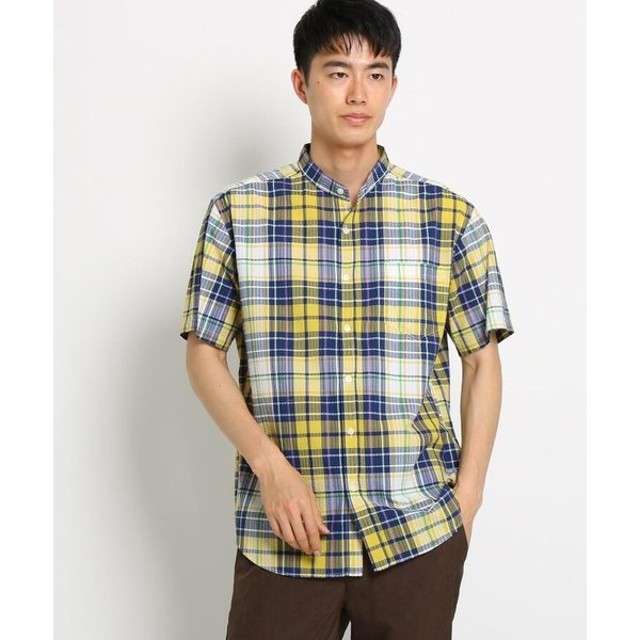 THE SHOP TK / ザ ショップ ティーケー シアサッカーチェックシャツ