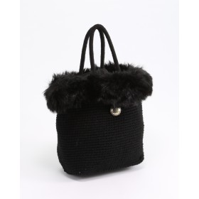 ginger and sprout 2WAY ECO FUR TETO○20881016 Black カバン・バッグ