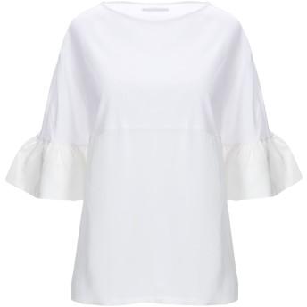 《セール開催中》ARCHIVIO B レディース T シャツ ホワイト S コットン 82% / 麻 18% / シルク