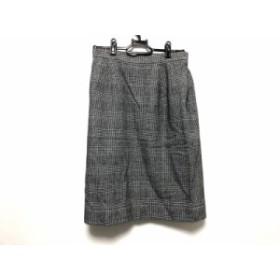 イヴサンローラン YvesSaintLaurent スカート サイズL レディース 美品 黒×グレー 千鳥格子/チェック柄【中古】