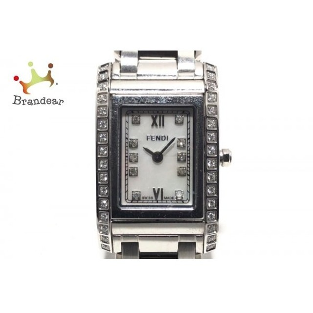 1a7c8b7c10 フェンディ FENDI 腕時計 7600L レディース ダイヤベゼル/シェル文字盤 ホワイトシェル 新着 20190613