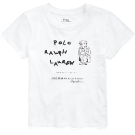 《期間限定 セール開催中》POLO RALPH LAUREN レディース T シャツ ホワイト S コットン 100% POLO BEAR JERSEY TEE