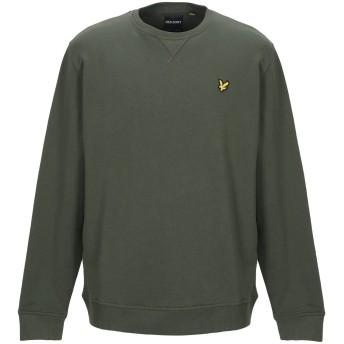 《セール開催中》LYLE & SCOTT メンズ スウェットシャツ ミリタリーグリーン XL コットン 100%