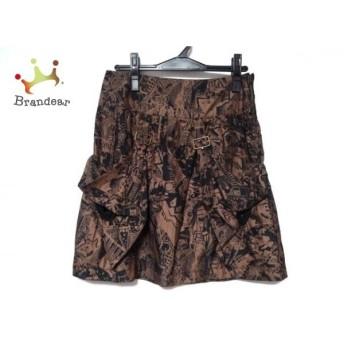 シーバイクロエ SEE BY CHLOE スカート サイズ40 M レディース 美品 黒×ブラウン 値下げ 20190916