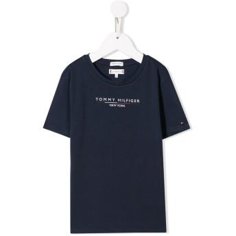 Tommy Hilfiger Junior logo print T-shirt - ブルー