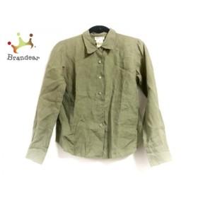アニエスベー agnes b 長袖シャツブラウス サイズ2 M レディース ダークグリーン   スペシャル特価 20190907