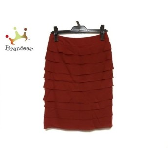 ランバンコレクション スカート サイズ38 M レディース 美品 オレンジ ダメージ加工 スペシャル特価 20190830