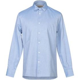 《期間限定セール開催中!》CORELATE メンズ シャツ ブルー L コットン 100%