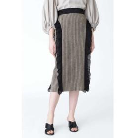 【ADORE:スカート】サーブルヘリンボーンスカート
