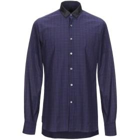 《期間限定セール開催中!》LANVIN メンズ シャツ ダークブルー 39 コットン 100%