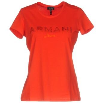 《期間限定セール開催中!》ARMANI JEANS レディース T シャツ レッド 38 コットン 96% / ポリウレタン 4%