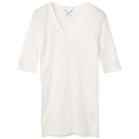 Phil O. シルクコットンVネックカットソー オフホワイト/0(エストネーション)◆レディース Tシャツ/カットソー