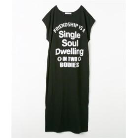ロングTシャツワンピース(クルーネック) (ワンピース),dress