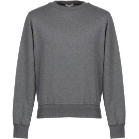 《期間限定セール開催中!》BOTTEGA VENETA メンズ スウェットシャツ 鉛色 50 コットン 75% / ウール 25% / 羊革(シープスキン)