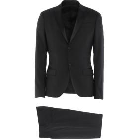 《セール開催中》DIRK BIKKEMBERGS メンズ スーツ ブラック 44 ポリエステル 60% / レーヨン 19% / ウール 18% / ポリウレタン 3%