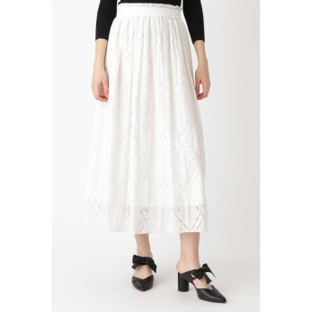 JILLSTUART ◆リミエンブロイダリーギャザースカート ホワイト 2