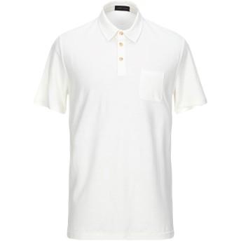 《セール開催中》ROBERTO COLLINA メンズ ポロシャツ アイボリー 50 コットン 100%