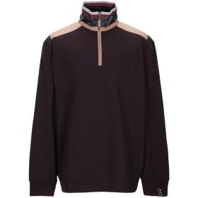 《期間限定 セール開催中》LANVIN メンズ スウェットシャツ ディープパープル S コットン 100% / ポリエステル / ナイロン / ポリウレタン
