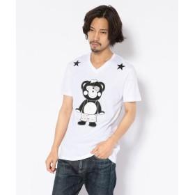 ロイヤルフラッシュ TANTA/タンタ/ キティコラボ チャッピー クリスタル Tシャツ メンズ WHITE S 【RoyalFlash】