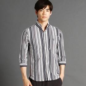 [マルイ] ストライプ柄カットソーシャツ/ニコルクラブフォーメン(NICOLE CLUB FOR MEN)