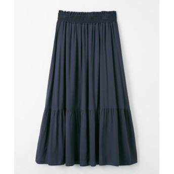 裾切替ギャザースカート (ロング丈・マキシ丈スカート)Skirts, 裙子