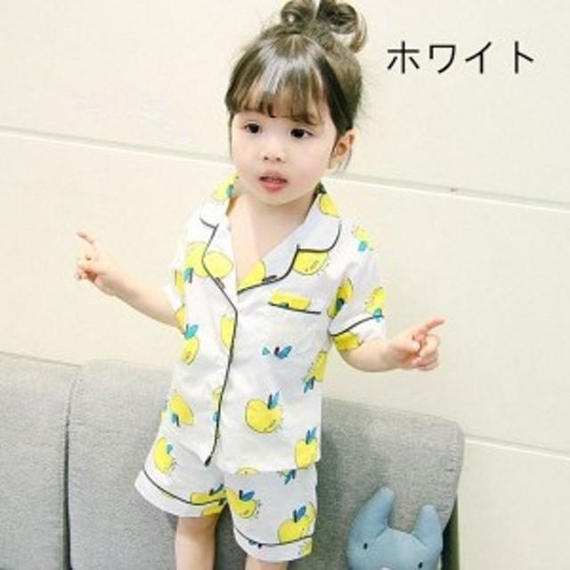 ab6de7b86bf79 子どもパジャマ 女の子 男の子 子供パジャマ 半袖 夏用 上下セット ハーフパンツ 可愛い キルト 寝間着