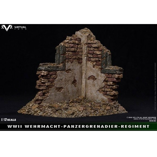 WWII SS 1/12 戦場廃墟シーンディスプレイ[Virtual Toys]《12月仮予約》