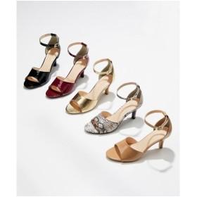 サンダル レディース アンクル ストラップ 低反発中敷 靴 22.0〜22.5/23.0〜23.5/24.0〜24.5cm ニッセン
