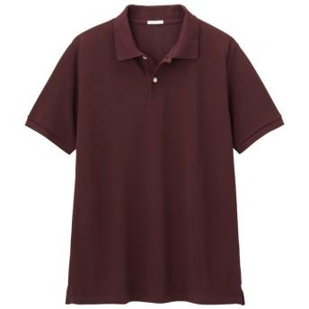 (GU)GUドライポロシャツ(半袖)CL WINE M