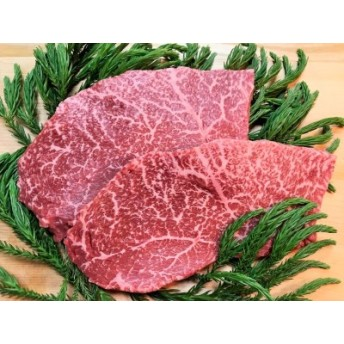 飛騨牛 5等級 ランプステーキ 2枚 飛騨市推奨特産品 古里精肉店[C0042]