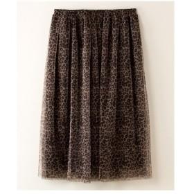 スカート ひざ丈 大きいサイズ レディース 2枚重ねチュール PURE BRIGHT  3L ニッセン