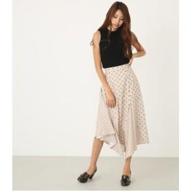 【rienda:スカート】MIX Pattern J/WフレアSK