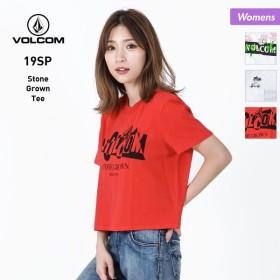 VOLCOM/ボルコム レディース 半袖 Tシャツ ティーシャツ トップス ロゴ 白色 ホワイト グレー レッド 赤色 B3511908